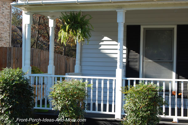 turned columns on front porch