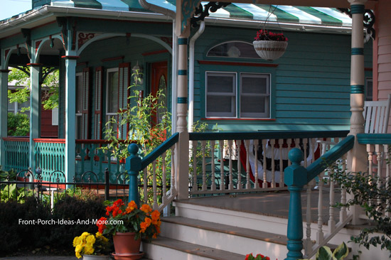 Victorian style front porch columns Cape May NJ