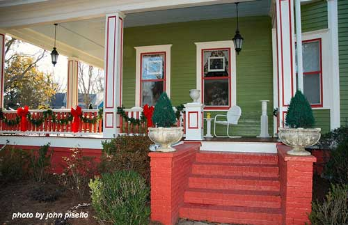 nicely painted front porch columns
