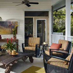 porch decorated for appeal and functionality