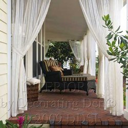 front porch curtains for curb appeal and privacy