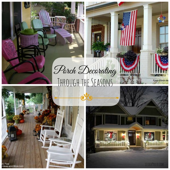 porch decorating collage
