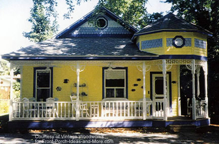 another beautiful porch with trim from Vintage Woodworks