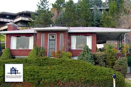 Porch designs - before - brick home