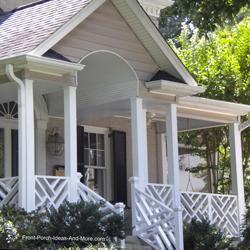 unique front porch roof design