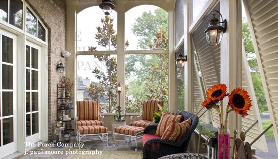 beautifully decorated porch enclosure