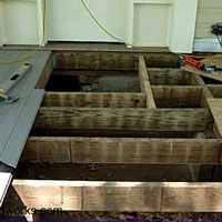 porch floor joists and decking material
