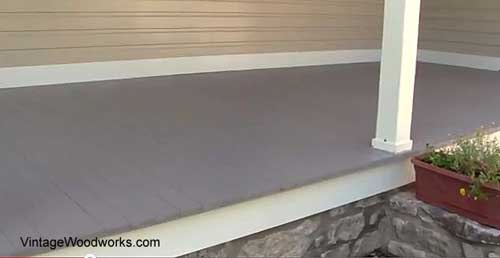 porch flooring installation