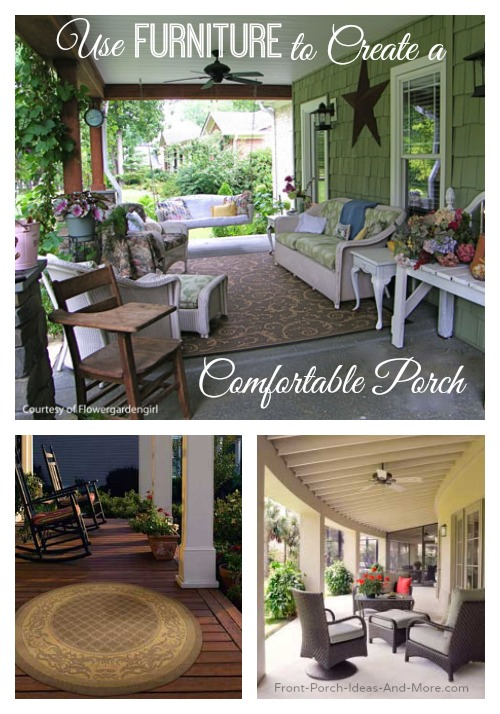 Collage of outdoor furniture for your porch
