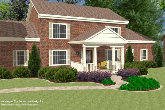 3d Rendering Of Two Story With Gable Roof