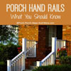 graphic showing porch handrails