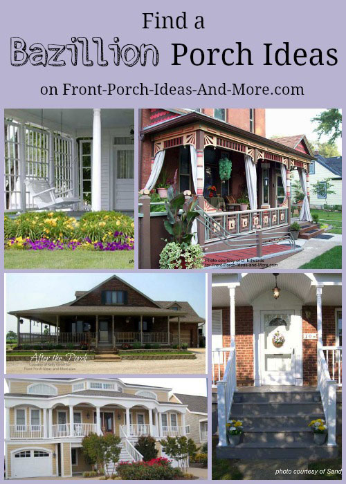 Front porch ideas collage