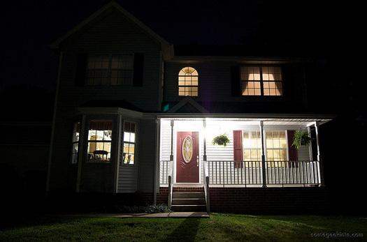 Beautiful porch lighting