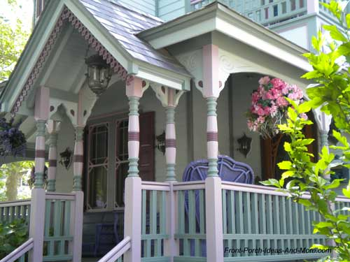 Victorian painted porch