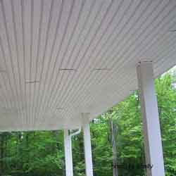 front porch ceiling with bead board panels