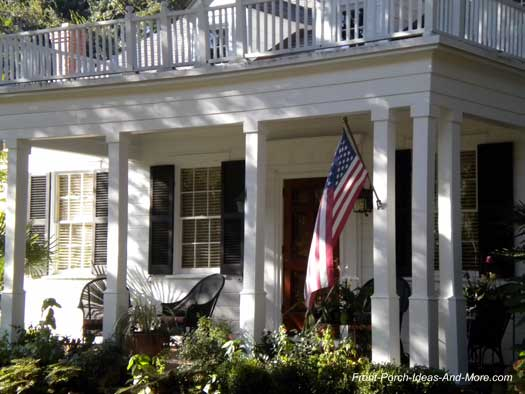 front porch with square columns