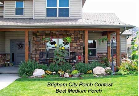 Brigham City Utah Porch Contest Best Medium Porch