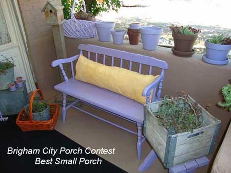 Brigham City Utah Porch Contest Best Small Porch