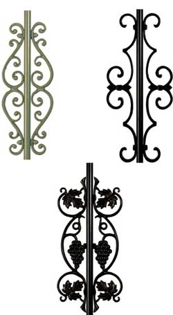 Centerpieces to Attach to Balusters for Decorative Look