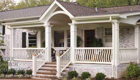 wood porch railings