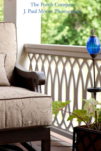 Custom railings like these are available at The Porch Company's Porch Store!