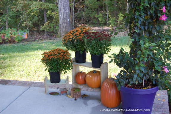 porch display stands on front porch