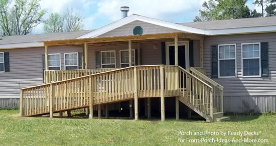wheelchair ramp on front porch