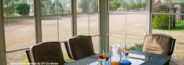 Screen porch windows turn a screened porch into a three season room