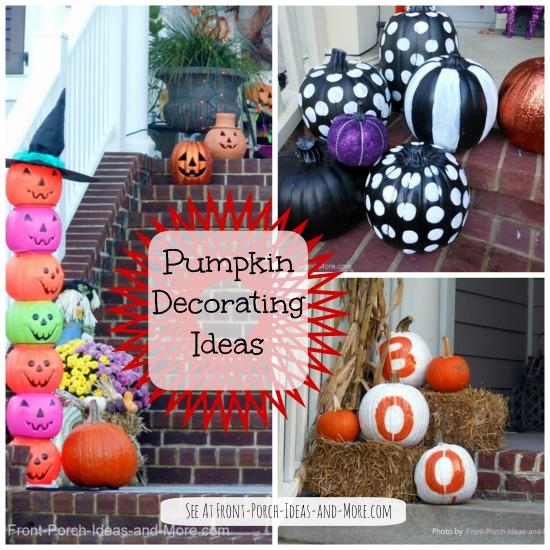 collage of pumpkin decorating ideas