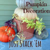 stacked pumpkins for fall