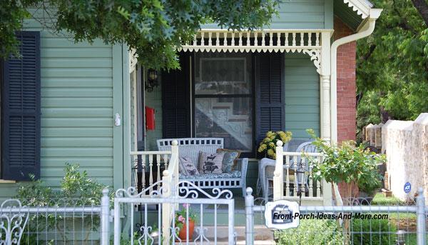 idyllic front porch in Fredericksburg TX