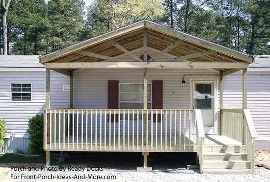 Porch designs for mobile homes mobile home porches for Porch roof plans