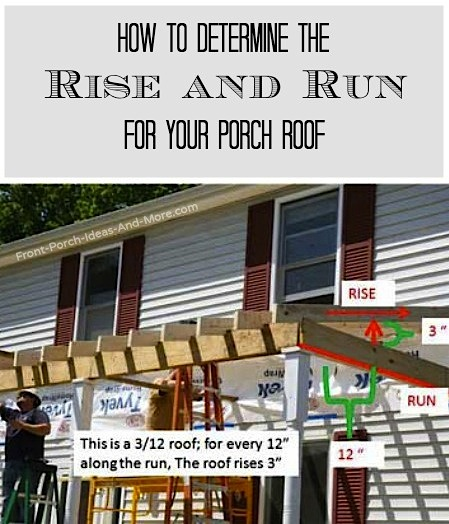 rise and run building a porch roof cutting rafters