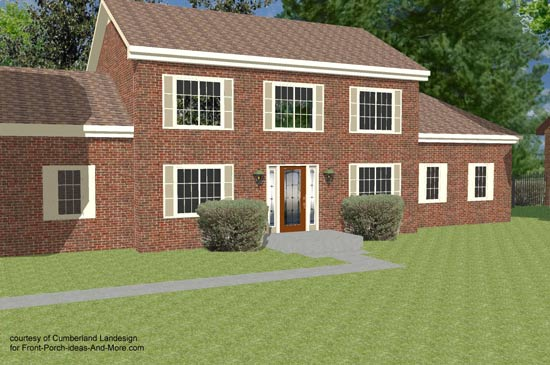3d rendering of two story home
