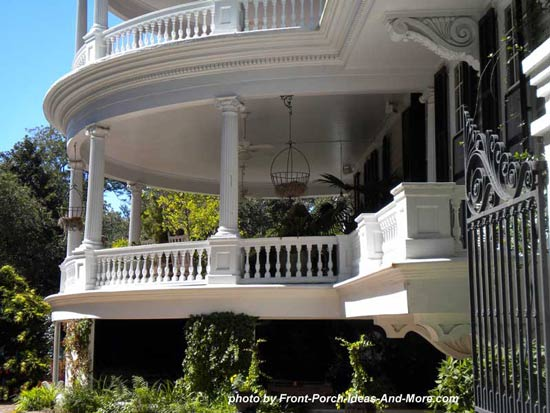 round roof on classic southern porch