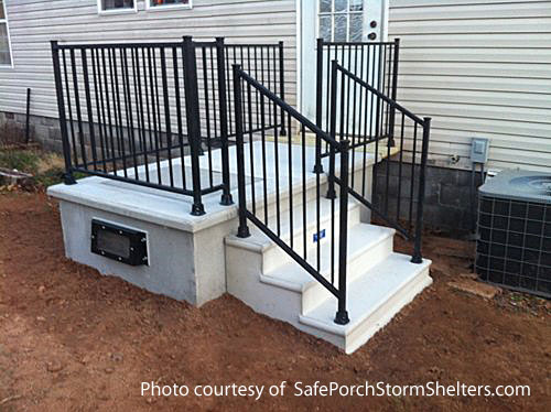 SafePorch installed as a front porch on mobile home