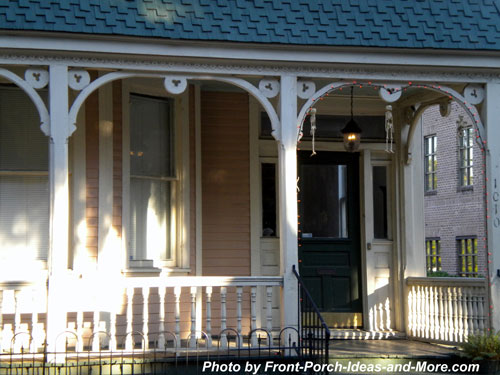 old Savannah front porch with exterior house trim