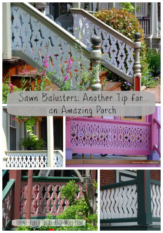 sawn balusters collage