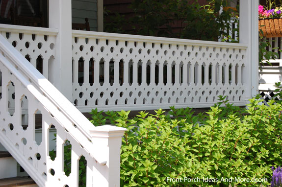 sawn porch railings with ornate design