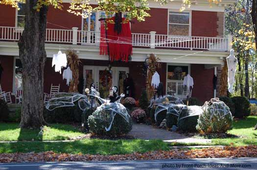 scary halloween decorations with ghosts and goblins
