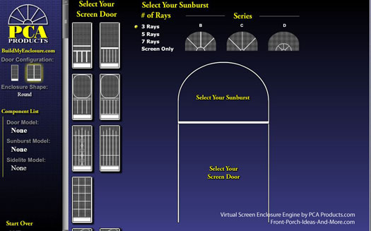 Virtual Screen Enclosure Engine PCA Products