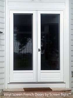 screen French doors by Screen Tight
