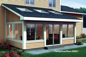 screen porch plan 90021 from familyhomeplans.com