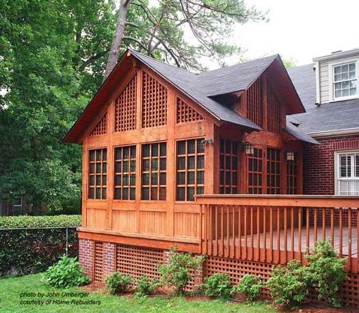 Custom Screen Porch Design by Home Rebuilders