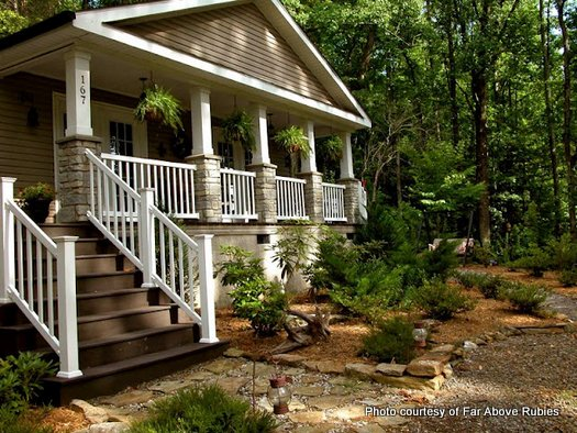 Anita's mountain home and wraparound porch