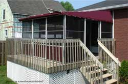 another screened porch kit courtesy of ScreenHouses Unlimited