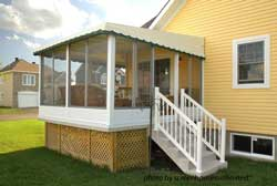 screened porch kit from ScreenHouses Unlimited