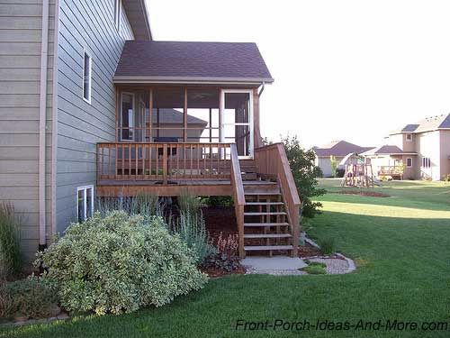 basic screen porch over deck