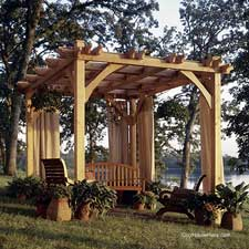 Family Home Plans arbor and swing