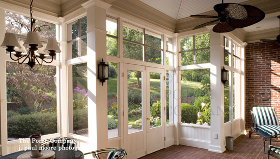 custom screen porch by The Porch Company